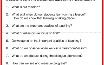 Part 1 of 10. What does a systematic approach to improve teaching really mean?